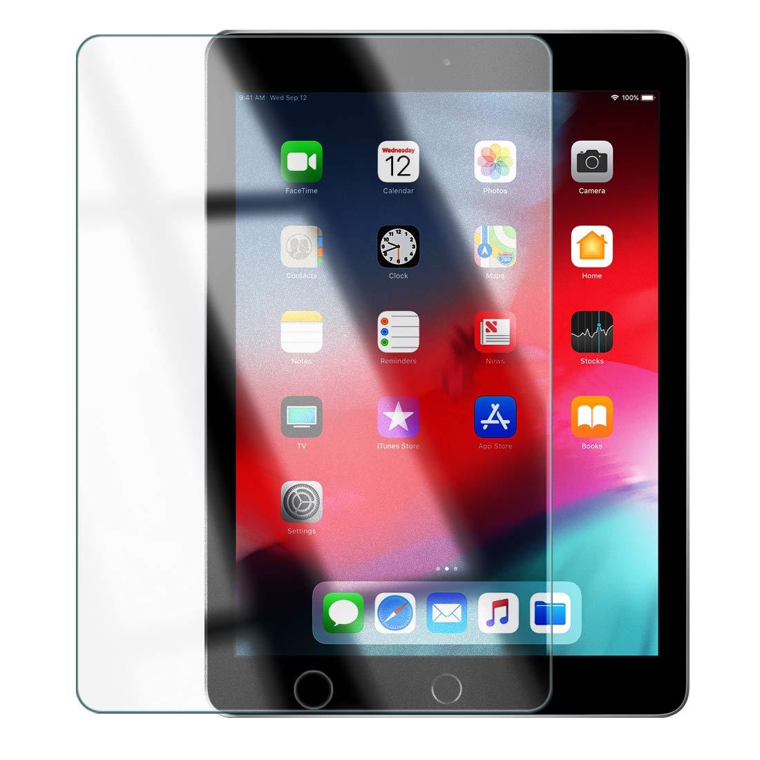 iPad 9.7インチ対応 【ゲーム快適サラサラ度UP】 O型 反射低減 アンチグレア + ペーパーライク 中間感触 絶妙サイズ ガラスフィルム 指紋防止 O型 2018 2017 新型 第6世代 Air2 iPadPro iPadAir ApplePencil(第1世代)対応 強化ガラス 強化ガラスフィルム 保護フィルム 液晶保護フィルム 荒野行動 対応 保護 ガラス フィルム 全面保護 ケース 衝撃 軽量 薄型 レザー 3D タッチ 薄型 手帳 カバー 対応 気泡防止 日本製 【WANLOK】9H 2.5D 0.3mm iPad5 iPad6 AG