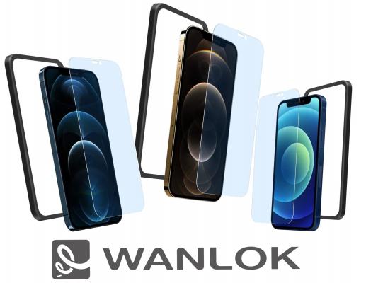WANLOK Amazonにて『ガイド枠付 iPhone 12 専用 強化ガラスフィルム』を発売開始。実機にて装着し、動作確認済。ケースと干渉無し、ガイド枠付きでフィルム貼り付けは驚きの簡単さ