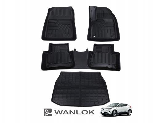 WANLOK 新規事業開始『トヨタ C-HR 3Dフロアマット』の取り扱いを開始 WANLOKではトランクルームマットも付いたお得な4点SETで発売 高品質TPE樹脂使用、完全防水でアウトドアで大活躍